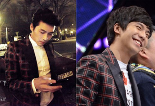 "who wear it better?  Share  [Dispatch] Checks look good on anyone. It has a wide variety of patterns and color making it easy to style. For these resons, check are being loved all throughout the 4 seasons.  'Men of the generation' Hyeon Bin and Lee Seung-gi wore the same checked jackets. Hyeon Bin wore it in the 48th issue of ""High Cut"" and Lee Seung-gi in the SBS TV program ""Kang Heart"". How are their styles? We looked into the two who wore the same item at different locations.  ▶ What item?: The jacket Hyeon Bin and Lee Seung-gi wore is a fresh DSquared2 2011 Spring / Summer item by the Canadian twin brothers Dean and Dan Cayden. This Scottish looking black and red checkered jacket costs 3.87 million won.  ▶ Hyeon Bin?: This jacket made Hyeon Bin shine even in the night of Berlin. He wore this jacket at the last photo shoot he did before he joined the army during the Berlin International Movie Awards. He made the jacket stand out on top of a white shirt. He also had volume in his hair looking like James Dean.  ▶ Lee Seung-gi?: Lee Seung-gi looked like a sophisticated college boy. He matched a white shirt, the same brand as the jacket and dark denim pants with the jacket, looking casual. His model student look was completed with a neatly styled outfit and neat hair.  ▶ Same outfit different feeling: Hyeon Bin and Lee Seung-gi wore the jacket according to their situation and atmosphere respectively. Hyeon Bin, who chose the jacket as a photo shoot item, managed to wear it off like it was his. He wore it well enough to say he was ready to step on the red carpet at any moment.  Lee Seung-gi showed the best example of a casual jacket and T-shirt. He simply wore it without a big mess. One flaw to be pointed out is the printed T-shirt with the checkered jacket that made it look distracting. It would've looked much neater if he had worn a plain inner wear.   Source : news.nate.com/view/20... ( Korean )"